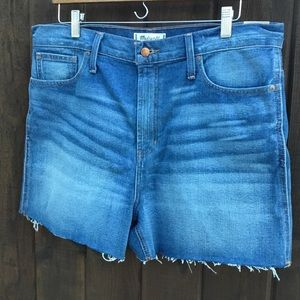 NWT, Madewell The Perfect Jean Short, high waisted